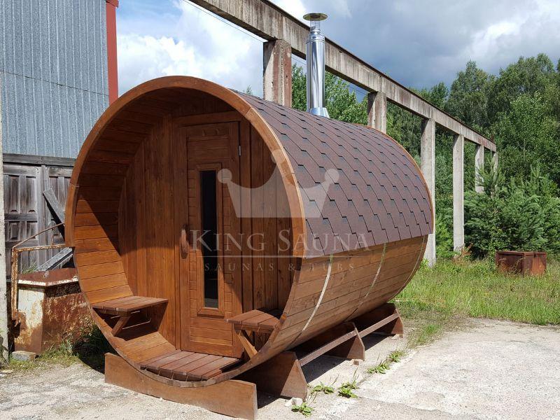 Sauna rotonda x con camera da giardino for Tinozze da giardino